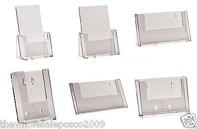 Plastic Leaflet Holder Business Card Display Stand Brochure Flyer Menu Dispenser