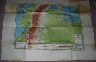 Vintage Ecuador South America Columbia Map 36