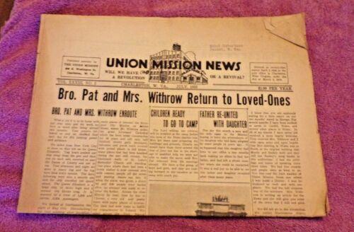 July, 1953 Union Mission News-Charleston, WV -Rare Charleston Coca Cola Ad