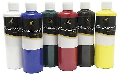 Chromacryl Premium Students Acrylic Paint Set, Assorted Primary Colors, -