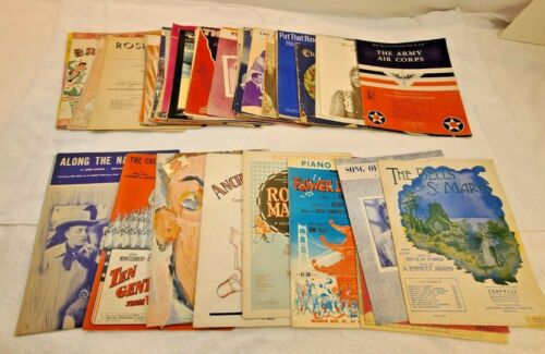 Vintage Piano Sheet Music and Songbooks, Lot of 50+ sheets