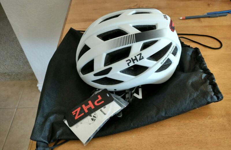 PHZ W-019 Bike Helmet, White, Medium. NEW!