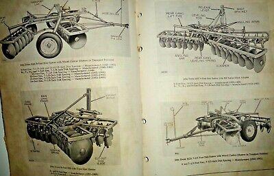 John Deere Kb Kc Kba Kca Kby Disk Harrow Parts Catalog Manual Book Original Jd