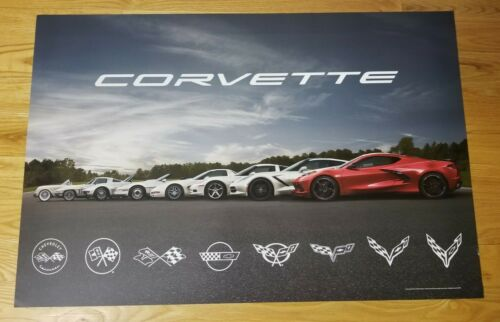 "2020 C8 Corvette Stingray Poster - GM Dealership Promo - 2 sided 24 x 36"""