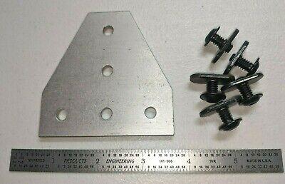 8020 Inc T-slot Aluminum 5 Hole Tee Flat Plate 10 Series 4140 Mount Hardware