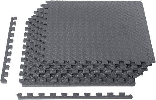 New 24 Sq Ft EVA Foam Floor Mat Flooring Exercise Gym Playground Interlocking BL