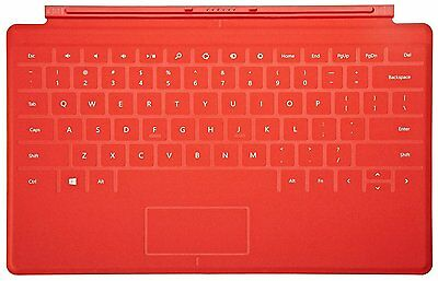 New Microsoft Surface Touch Cover Keyboard Red for RT, Surface 2 RT, PRO1 & PRO2
