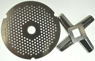 32 X 18 Fine Stainless Meat Grinder Plate Heavy Duty Knife For Hobart Biro