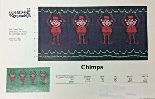 CREATIVE KEEPSAKES SMOCKING PLATE- CHIMPS