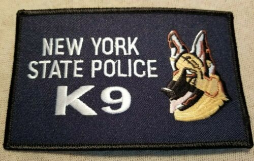 NY New York State Police K-9 Unit Patch (5In)