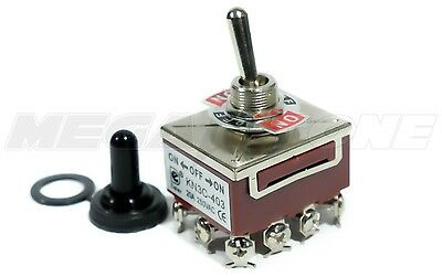 Heavy Duty 20a125v 4pdt On-off-on Toggle Switch Wwaterproof Boot. Usa Seller