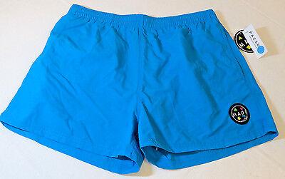 Mens Maui And Sons Logo pool board shorts swim surf trunks Retro design Blue M