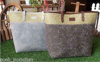 LADIES CANVAS BEACH SHOULDER BAG SUMMER TOTE HOLIDAY SHOPPER HANDBAG