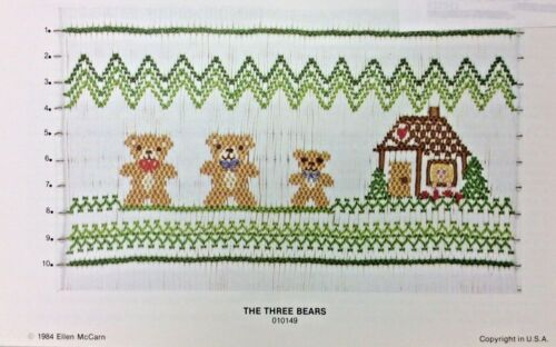 ELLEN MCCARN SMOCKING PLATE #010149 THE THREE BEARS