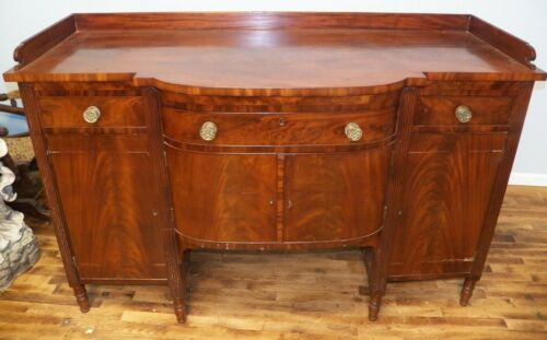 1800 Antique Mahogany Federal Period Sideboard Mid Atlantic region Hunt Board