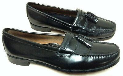 37ec05c5e74 Bostonian Tassel Kiltie Moc Toe Loafer Mens 13 M Black Leather USA + Shoe  Trees
