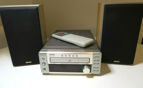 Denon UD-M3 Personal Component System  CD Receiver w Speakers & Remote Works!