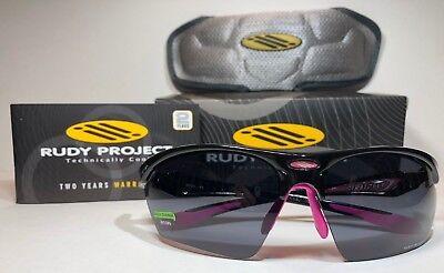 50b79f93b9 Rudy Project Stratofly SP236642D0000 Sunglasses Gloss Black Fuchsia  Smoke  Lens