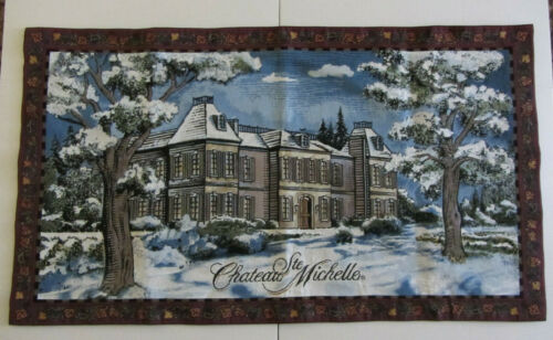CHATEAU STE MICHELLE Winery Large Tapestry Wall Hanging