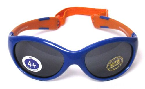 REAL SHADES Kids/Youth Wrap Explorer Sunglasses UV 400 Blue & Orange >NEW<