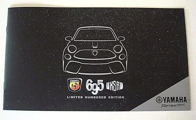 Fiat . Abarth 695 XSR Limited Numbered Edition . May 2017 Sales Brochure
