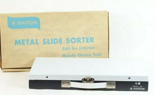 Vintage Wards Slide Sorter w/ Lighted Viewer Metal Carry Case