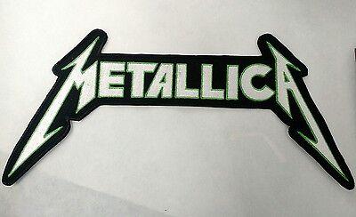 METALLICA logo BACK PATCH embroidered NEW Metallica thrash metal