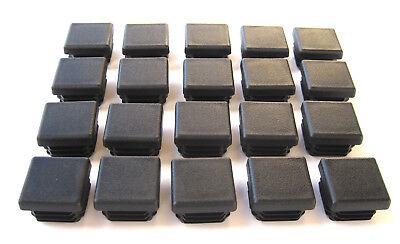 20 - 1 Square Tubing Black Plastic Plug 1 Inch Sq End Caps 1x1 1x1 Post Tube