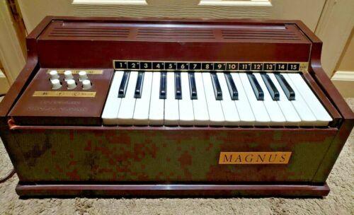 vintage magnus electric chord organ brown model 300 no.135460