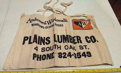 Vintage Plains Lumber Co Wilkes-Barre PA? Advertising Hardware Store Nail Apron