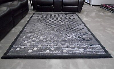 Modern Rugs Area 5X8 Ombre Dotted Design Grey Gray  - NEW