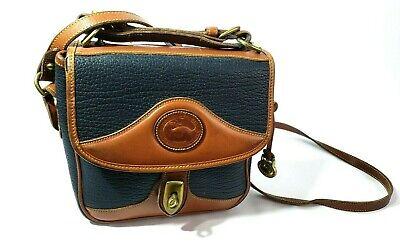 Dooney & Bourke Leather Shoulder Bag Purse Handbag Pebbled All Weather Black