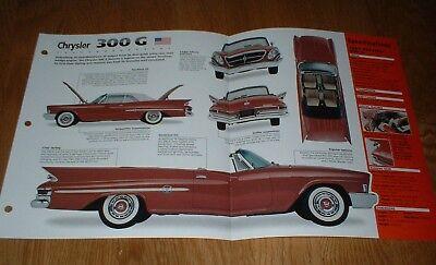 Brochure 300G SPEC SHEET Prospekt 1961 Chrysler 300 G /'61