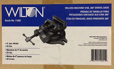 Wilton 11603 4-inch Milling Machine Vise W Base