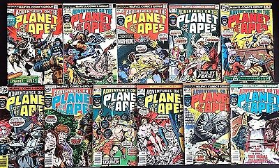 ADVENTURES ON THE PLANET OF THE APES#1-11 FN/VF LOT 1975 MARVEL BRONZE AGE COMIC