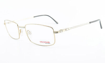 MENRAD Brille The Vision 13304-1107 Square Eye Frame Spring Temples Gold Silver