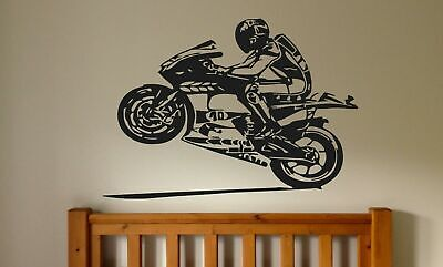 Used, Wall Decal Sticker Bedroom dirt sport bikes race ride speed boys nursery bo2810 for sale  Shipping to India
