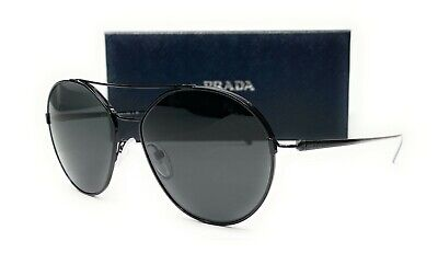 PRADA SPR 56U 1AB-5S0 Black Grey Women's Sunglasses 55mm