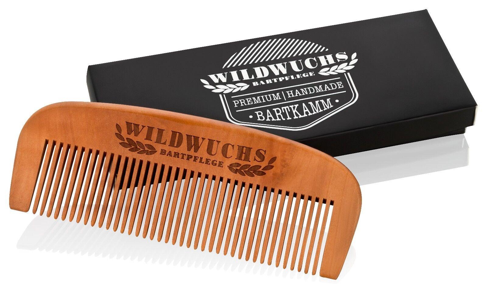Bartkamm von Wildwuchs Bartpflege Holzkamm Birnbaumholz zur Pflege mit Bartöl