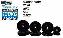Bumper Plates Black 100kg Package Reeplex Pro Strength Brand NEW Malaga Swan Area Preview