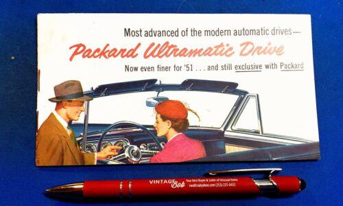 Rare 1951 Packard Ultramatic Drive Transmission Brochure Convertible