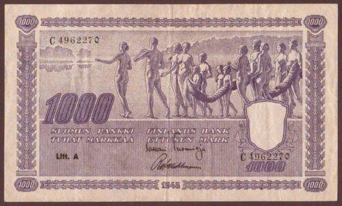 FINLAND  1000 Markkaa  1945   Litt. A