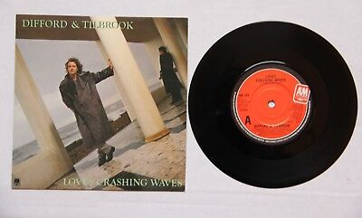 """DIFFORD & TILLBROOK. LOVE'S CRASHING WAVES. 82 A&M RECORDS. 7"""" SINGLE WTH COVER"""