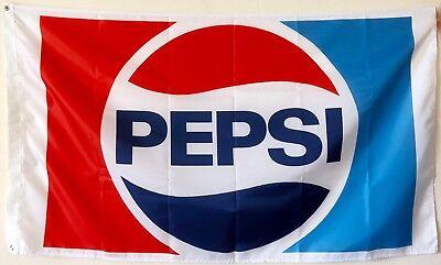 PEPSI COLA FLAG BANNER 3X5FT GARAGE MANCAVE CRYSTAL PEPSI ICONIC SODA PEPSI SI