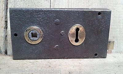 Old Victorian Reclaimed Metal Right Or Left-Handed Rim Door Lock