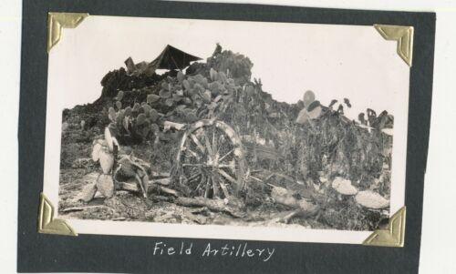 1940 US Army Schofield Barracks Hawaii artillery in the field Photo #2 camo net