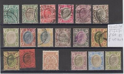 Transvaal sel used, and last 4x  OGLH , all early period  cv= SG £ 92