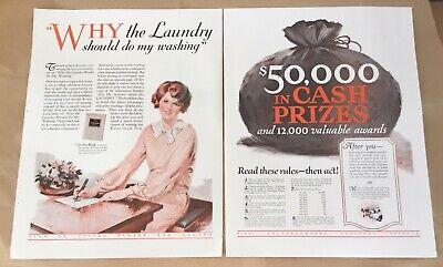 Laundry sweepstakes 1927 originl vintage print 20s art illustration decor Bryant