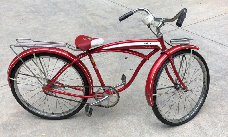 VTG 1963 Schwinn Fleet All Original Bicycle w/ speedometer, light, rack, 1 owner