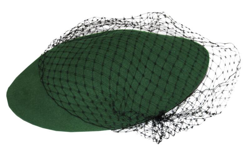 Alicia Keys Worn Green & Black Lace Beret w Her COA